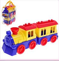 Конструктор Детский поезд с вагоном Юника