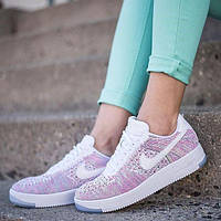 "Nike Wmns Air Force 1 Flyknit Low ""Weiss/Multi"""