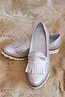 Женские туфли с бахромой, натуральная кожа. Возможен отшив в других цветах кожи и замша