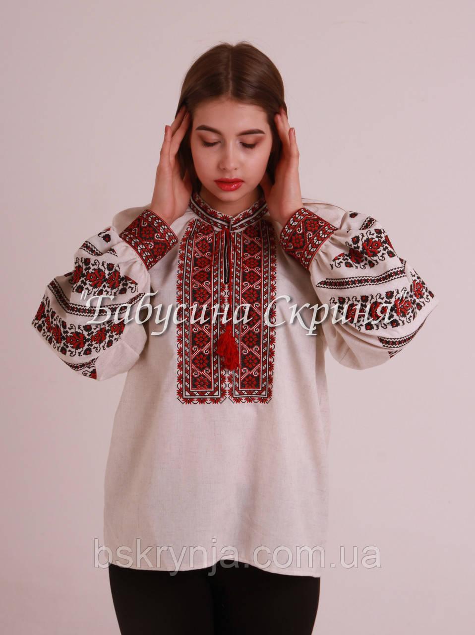 Заготовка Борщівської жіночої сорочки для вишивки нитками бісером БС-108 - Інтернет  магазин