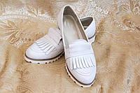 Женские туфли с бахрамой, натуральная кожа. Возможен отшив в других цветах