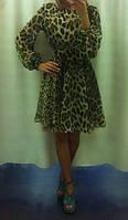 Платье шифоновое короткое на спинке разрез
