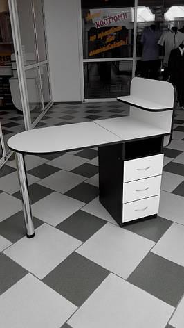Маникюрный стол с ящиками и полочками, фото 2