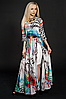 Стильное, красивое, нарядное, длинное летнее шифоновое платье