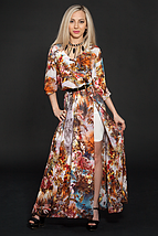 Стильное, красивое, нарядное, длинное летнее шифоновое платье , фото 2