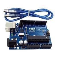Arduino Uno R3 ATmega328P + ATmega8U2 + USB кабель, фото 1