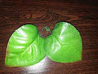 Лист искусственный сирени зеленый
