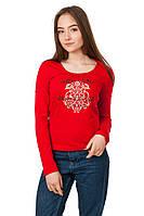 Женская футболка Лонгслив цвет красный размер 44 B17-1