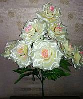Букет из 9-ти больших(атласных)роз 55см