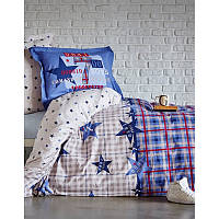 Постельное белье Karaca Home - Peace blue ранфорс подростковое
