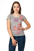 Женская футболка Code Original цвет серый размер 48 B18-2