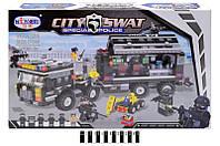 Конструктор City Swat 1230 Полицейская техника спецназа, 842 дет