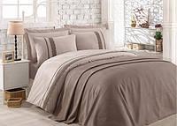 Однотонное постельное белье с бамбуковым покрывалом пике