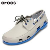 Мокасины мужские Сrocs Beach Line Boat white-blue