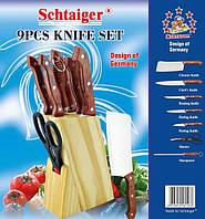 Набор кухонных ножей Schtaiger SHG-8153 с подставкой