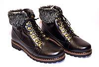 """Зимние женские ботинки кожаные на шнуровке от производителя  ТМ """"Maestro"""""""