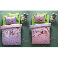 Постельное белье Karaca Home - Molly лилово-розовое стеганное подростковое