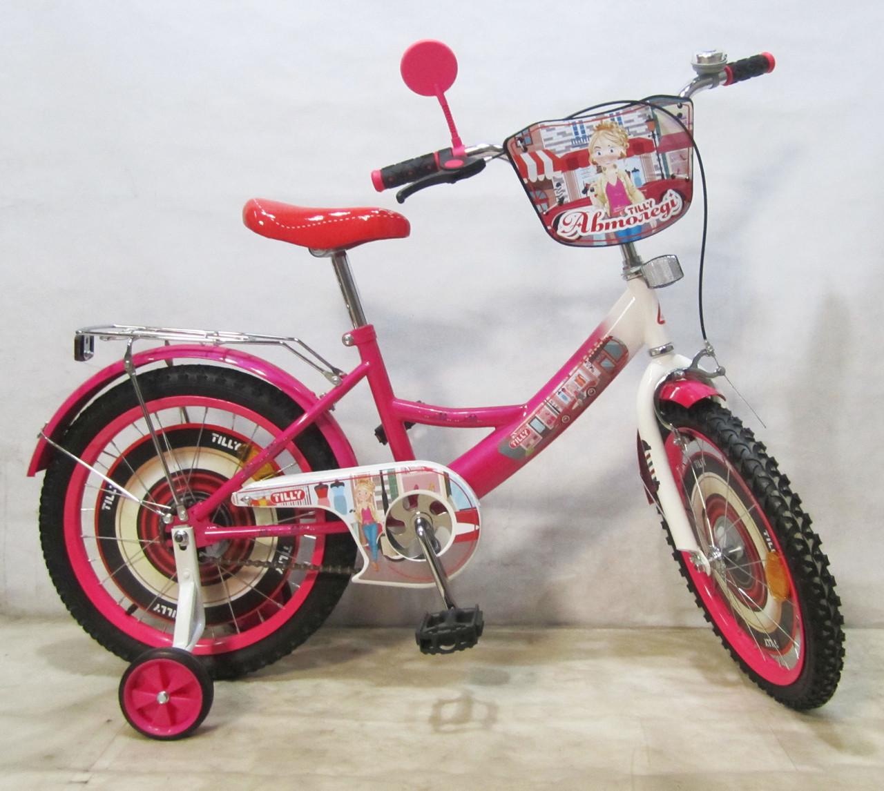 Велосипед TILLY Автоледі 18 T-21826 crimson + white