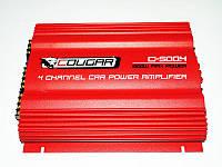 Автомобильный усилитель Cougar 500.4 1600Вт