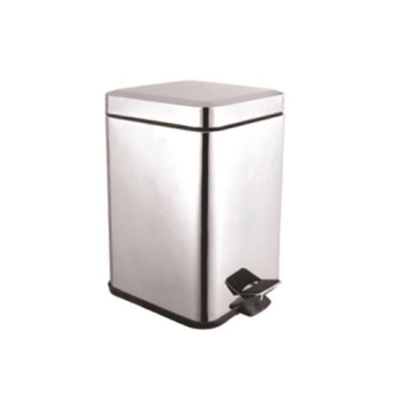 Ведро для мусора 5л, металл,  KL-301S  5L квадрат