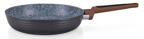 """Сковорода """"Diamond Grey"""" 24х5.5см с индукционным дном алюминиевая с каменным антипригарным покрытием Fissman"""