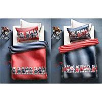 Постельное белье Karaca Home - Teddy красно-синее стеганное подростковое