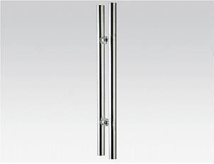 Ручка дверна з нержавійки HDL-633, довжина 600 мм Ø32 мм м/о 425 мм