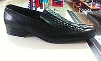 Мужские кожаные туфли Big Boss черные 48 р