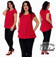 Костюм двойка, лосины черного цвета и удлиненная блуза в расцветках.