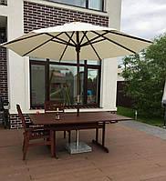 """Уличный зонт """"Де Люкс"""" ø 3м., без воланов- для летних площадок баров, кафе и ресторанов"""