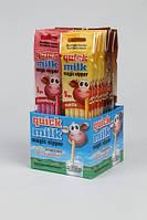 Вкусовая соломка для молока с клубникой