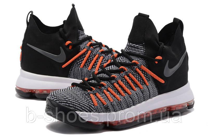 Мужские баскетбольные кроссовки Nike KD 9 Elite (Dark Grey/Hyper Orange)