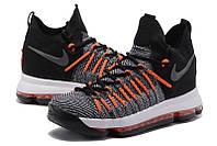 Мужские баскетбольные кроссовки Nike KD 9 Elite (Dark Grey/Hyper Orange), фото 1