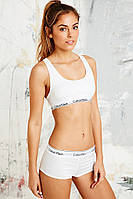 Calvin Klein комплект топ + шорты 3 цвета S M L White белые