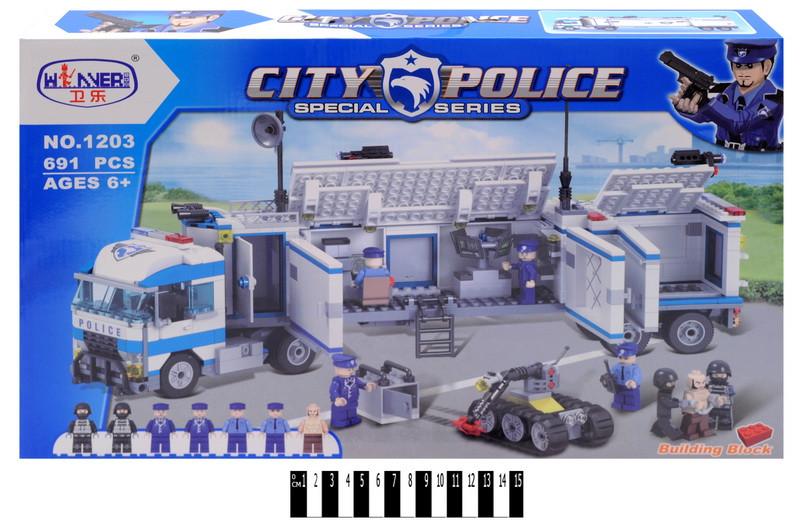 Конструктор City Swat 1203 Полицейская техника спецназа, 691 дет