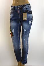 Жіночі легко рвані джинси з вишивкою  Esquire, фото 3