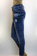 Жіночі легко рвані джинси з вишивкою  Esquire, фото 2