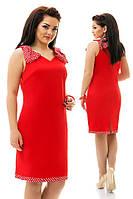 Лёгенькое платье с оригинальной отделкой
