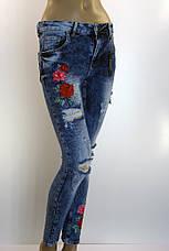 Жіночі рвані джинси з вишивкою  Esquire розпродаж, фото 3