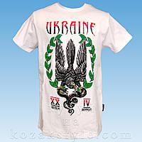 """Футболка """"Ukraine"""" (біла)"""