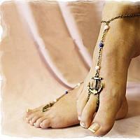 Браслет на ногу в морском стиле Якорь