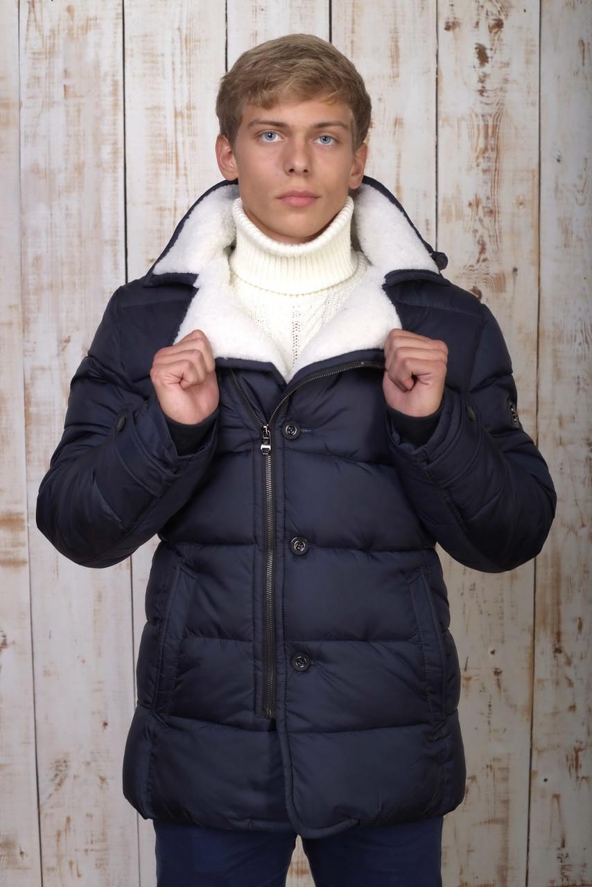 Куртка мужская зимняя синяя Avecs AV-70119 Размеры 50/L 54/2XL