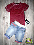 Стильная футболка для мальчика Armani бордовая, фото 2