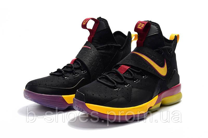 Мужские баскетбольные кроссовки Nike LeBron 14 (Black/Purple/Yellow)