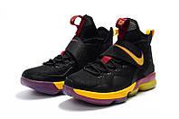 Мужские баскетбольные кроссовки Nike LeBron 14 (Black/Purple/Yellow), фото 1