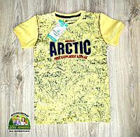 Летняя футболка для мальчика Arctic желтая