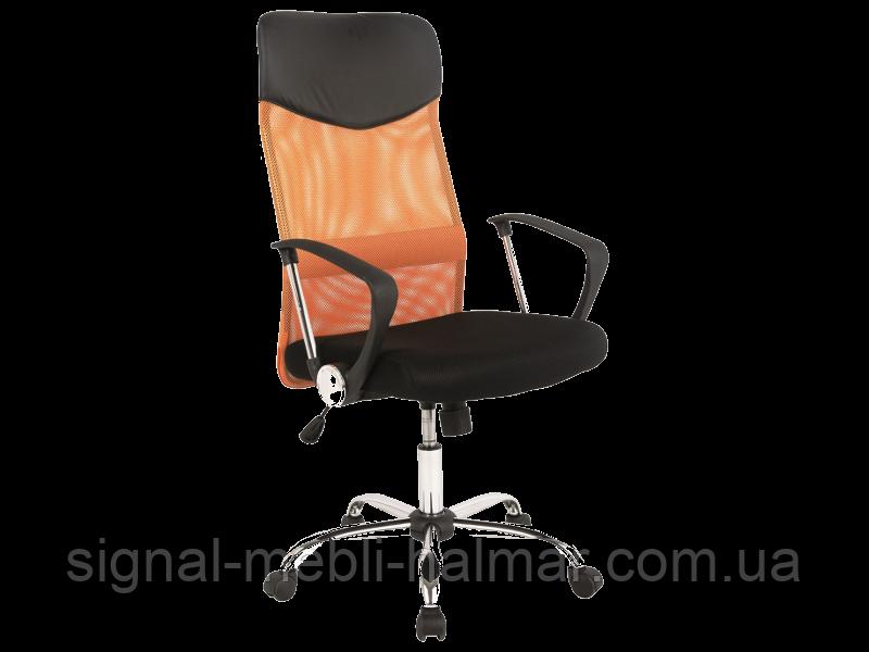 Компьютерное кресло Q-025 signal (оранжевый)