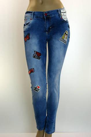 Жіночі джинси з принтами,аплікаціями,нашивками Ayaa, фото 2