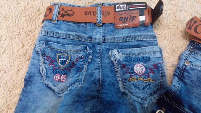 Крутые джинсовые шорты на мальчика 3, 4, 5, 6, 7 лет
