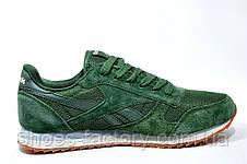 Кроссовки мужские в стиле Reebok Classic Leather Nylon Mesh, Green, фото 3